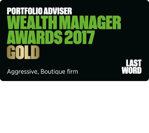 Portfolio Adviser wealth manager awards gold